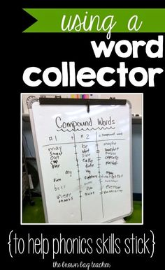 Help Phonics Skills 'Stick' with Word Collections! Good idea for focusing students during Read to Self. (The Brown Bag Teacher) Phonics Reading, Teaching Reading, Guided Reading, Teaching Ideas, Close Reading, Learning, Word Work Activities, Vocabulary Activities, First Grade Phonics