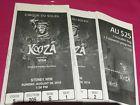 #Ticket  Cirque Du Soleil  Kooza Tickets SYDNEY- 1adult 1child & extras (28/08/16) #Australia