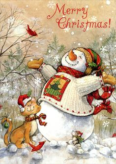Image result for snowman greeting cards
