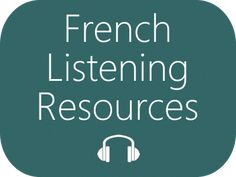 Listen to French - Authentic French Listening Resources : French Listening Resources: Listen to authentic and spontaneous spoken French Listen to authentic and spontaneous spoken French on a variety of topics, recorded by native speakers in France Ap French, Core French, French Tips, French Stuff, French Songs, French Phrases, Teaching French, French Flashcards, Fle