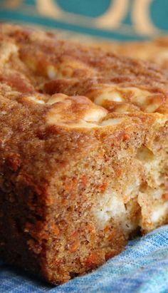 Carrot Bread with Cream Cheese Swirl Recipe