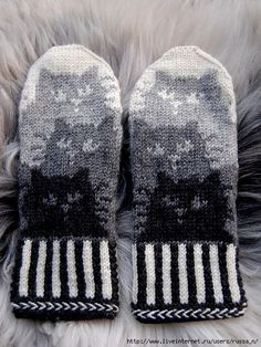 Trendy Ideas for knitting hat tutorial fair isles Mittens Pattern, Knit Mittens, Knitted Gloves, Knitting Socks, Hand Knitting, Kitten Mittens, Cat Pattern, Knitting Charts, Knitting Patterns