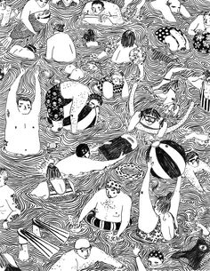 Wow, what an outstanding illustrator. Just came across Nottingham, England's Mouni Feddag and I'm totally impressed. Hats off. Brilliant style and wait till you see her colour work.