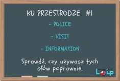 Ku przestrodze (police, a visit, information) - Loip Angielski Online English, English Language