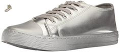 Qupid Women's Narnia-07 Fashion Sneaker, Silver, 9 M US - Qupid sneakers for women (*Amazon Partner-Link)