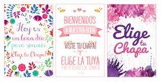 Imprimibles: Carteles para presentación de chapas de bodas