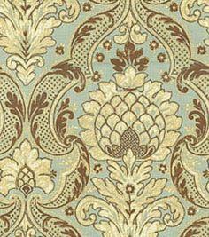 Uphostery Fabric-Waverly Venezia Vapor Fabric, , hi-res
