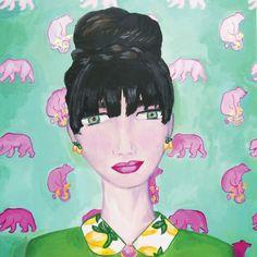 bear with me by Camille René 14x11 goldleaf print $40.00