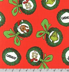 Kaufman  Dr. Seuss How The Grinch Stole Xmas by JeanMariesFabrics