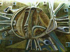 ceramic panel by Querubim Lapa