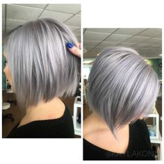 hair highlights classy 125 Cute And Classy Inverted Bob - Reachel 125 Cute And Classy Inverted Bob - Reachel Grey Hair Braids, Grey Hair Wig, Silver Blonde Hair, Hair Ponytail, Thick Natural Hair, Natural Hair Styles, Short Hair Styles, Thick Hair, Natural Afro Hairstyles