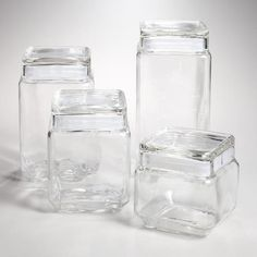 One of my favorite discoveries at WorldMarket.com: Stackable Square Glass Jars