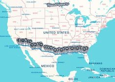 These are the coolest places to stop on an road trip, from Florida to California The best things to see and do on an Roadtrip across the U. * Join us in our meandering with food and travel Rv Travel, Places To Travel, Places To See, Travel Destinations, Family Travel, Travel Gadgets, Travel Tips, Texas Travel, Cheap Travel