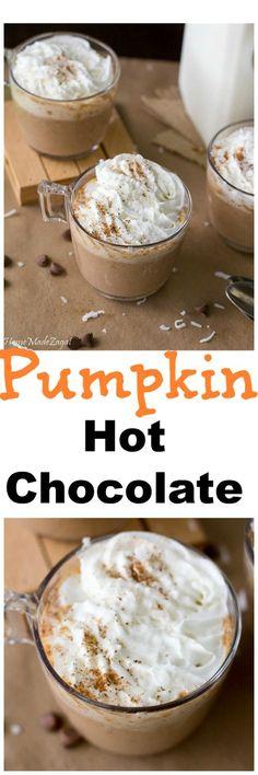 Pumpkin Hot Chocolate - A creamy pumpkin alternative to this popular hot…
