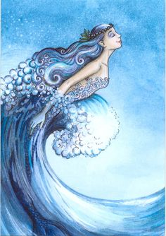 Fairy and fantasy art images, fairy pictures & drawings, flower and butterfly illustrations from Fairies World. Fairies World, Fairy & Fantasy Art Gallery - Lisa Victoria/Crescent Wave Mermaid Siren Mermaid, Mermaid Fairy, Mermaid Tale, Fantasy Mermaids, Real Mermaids, Mermaids And Mermen, Fantasy Creatures, Mythical Creatures, Sea Creatures