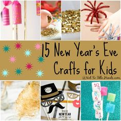 New Year's Crafts and Activities For Kids By: NotSoIdleHands.com
