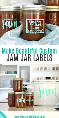 Love canning? Starting canning for beginners? Make the sweetest homemade canned gifts by added easy DIY Jam Jar Labels! Make these easy jar labels with the Cricut Joy. Simple Cricut jar labels for canned goods. DIY jar labels for homemade jams and other canned treats. Such an eco friendly homemade gift idea - gifting canned goods from your garden or kitchen! Find other homemade gift ideas, plus canning tips and recipes on the blog! Jam Jar Labels, Jam Label, Canning Tips, Canning Recipes, Canning Potatoes, Canning Applesauce, How To Make Jam, Jam Recipes, Baking Ingredients