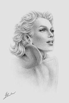 subtle. by ~black0widow on deviantART   || This image first pinned to Marilyn Monroe Art board, here: http://pinterest.com/fairbanksgrafix/marilyn-monroe-art/ ||