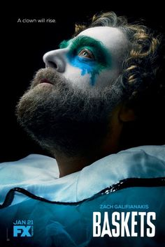 The FX comedy series Baskets, which stars Zach Galifianakis and Louie Anderson is starting it's season. Baskets Season 2 premieres at EST! Tv Series 2016, Tv Series Online, Hd Movies, Movies Online, Movie Tv, Movies Free, 2018 Movies, Send In The Clowns, Movies Showing