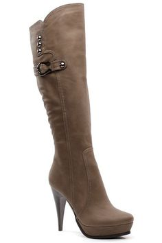 Knee Hi Boots - Taupe