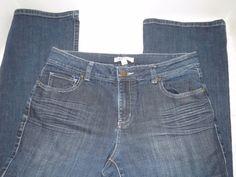 CAbi Denim Blue Jeans Womens Sz 6 Style# 652R Boot Cut  #Cabi #BootCut