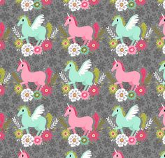 Unicorn pattern by Alyssa Nassner