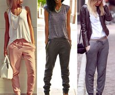 Different outfits - joggers Casual Outfits, Fashion Outfits, Womens Fashion, Fashion Trends, Joggers Outfit, Sweatpants, Casual Chic, Passion For Fashion, Casual Looks