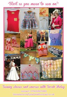 Crafty Ladies sewing classes in Leicestershire