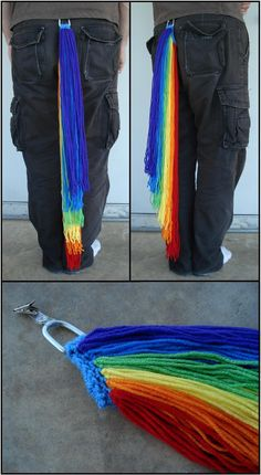 MLP Rainbow Dash Tails by *xREBEL666x on deviantART. I got the honor of meeting the artist who makes these at New Orleans Comic Con. What a great experience!