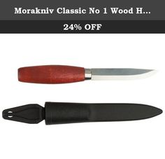 Morakniv Classic No 1 Wood Handle Utility Knife with Carbon Steel Blade, 3.9-Inch. Morakniv Classic series of knives, developed by Mora of Sweden for over a century, have been proven reliable by generations of carpenters and wood carvers. The Classic No 1 features a 3.9-inch carbon steel blade and red birch wood handle. Mora knives made from high carbon steel achieve high hardness, sharpen easily and are exceptionally tough. High carbon steels are preferred in applications that demand...