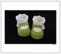 Handmade Crochet Baby Shoes Crocheting Baby Shoes Knitting Shoes for Newborn(LJ029)
