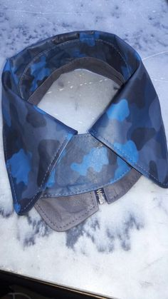Camouflage leather collar on sale! Blue is always a good idea!