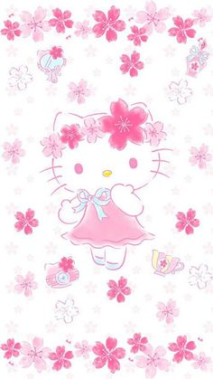 Hello Kitty Baby, Hello Kitty Themes, Hello Kitty Birthday, Sanrio Wallpaper, Hello Kitty Wallpaper, Iphone Wallpaper, Hello Kitty Pictures, Kitty Images, Art Diary