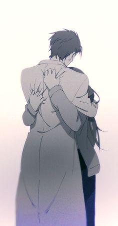 Steins Gate Rintarou Okabe Kurisu Makise Hug & Love