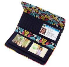 Vera Bradley wallet (Happy Snails)