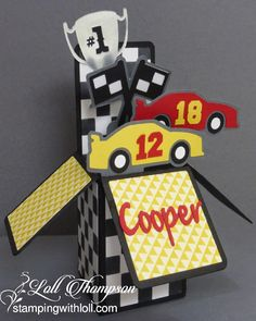 Stamping with Loll: Love this Race Car Surprise Birthday Box Card...