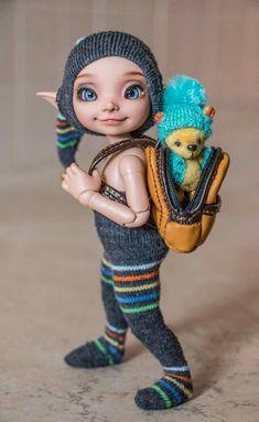 Fairy Dolls, Ooak Dolls, Blythe Dolls, Elf Clothes, Puppet Making, Fairy Figurines, Baby Fairy, Doll Eyes, Child Doll
