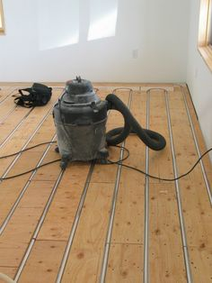 wood floor installation over #radiant #heating if you are building