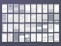 Ad: Wireframe & UI Elements by Sunbzy on The wireframe includes have 40 pages and 100 UI Elements for web, tablet and mobile devices. It's made for iPhone resolution. Wireframe Design, Dashboard Design, Web Design, Chart Design, User Experience Design, Customer Experience, Ui Design Inspiration, Ui Web, Ui Elements