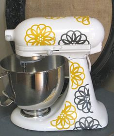 Kitchen Aid Vinyl DecalsSpirograph Flower by thewordnerdstudio, $17.50