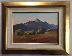 "Original Oil Painting by A Ozolins (1927- ) ""Mount Aleck Sth Aust"""