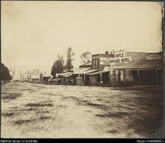 View Street and the Rifle Brigade Hotel, Bendigo, Victoria, ca. 1872