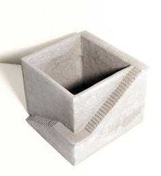 Cement Architectural Plant Cube Planter 1 by Vagabond Vintage