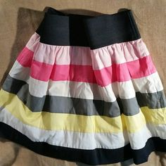 Candie's cotton, multicolor skirt. Elastic waste. Lined. Candie's Skirts Mini