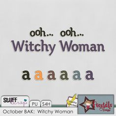 October BAK:  Witchy Woman Alphas - Ponytail Designs