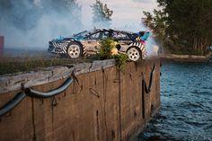 Gymkhana Nine, Rally Racer Ken Block Drifts and Speeds Through an Abandoned Industrial Park