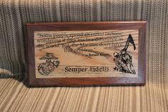 Marine Corps quote Sign