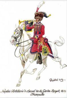 Tromba dell'artiglieria a cavallo del regno di Napoli