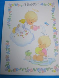 Your Invited A Baptism Invitations 8 Cards & Envelopes Precious Moments Design #Hallmark #BirthdayChild