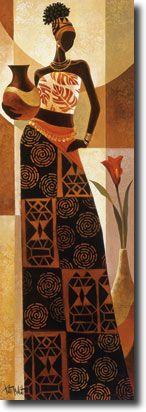 Kunst Bilder ideen - Naima by Keith Mallett - Beste Art Pins Arte Tribal, Tribal Art, Afrique Art, African Paintings, African Prints, Black Artwork, African American Art, African Women, African Beauty